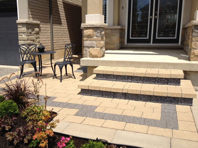 home paving and glass door