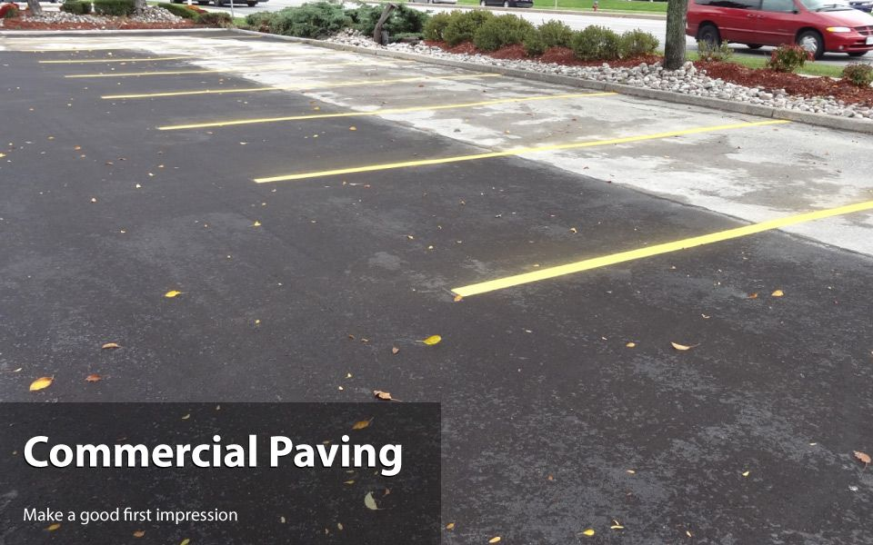 commercial paving - Paved parking lot
